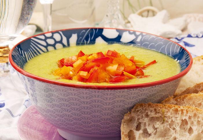 Gazpacho di cetriolo e peperoni