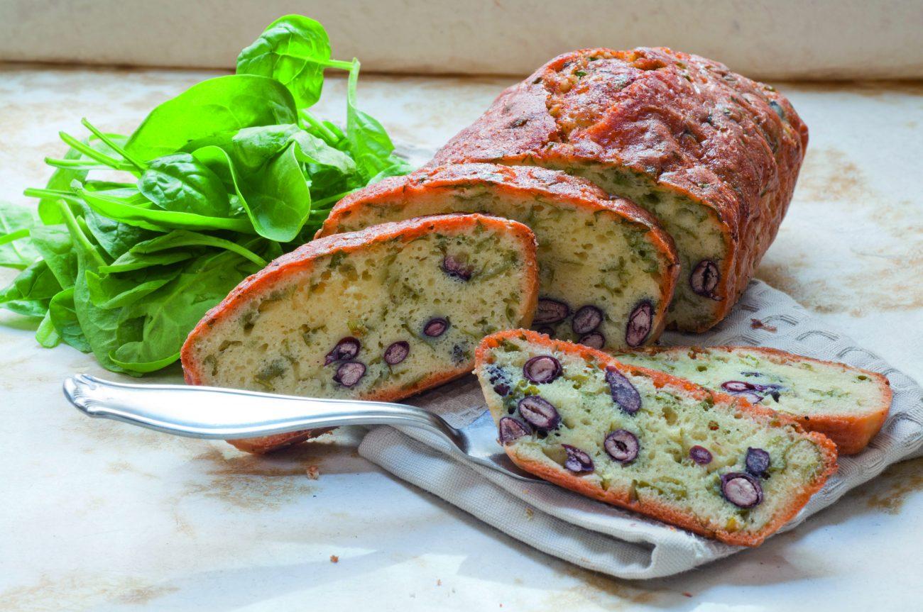 Plum-cake di spinaci e fagioli rossi