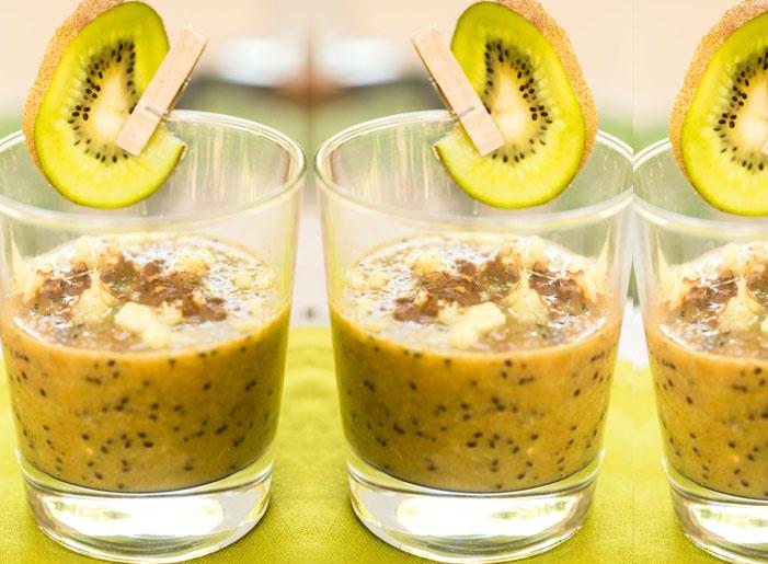 Non dolce di kiwi, miele, cannella e zenzero