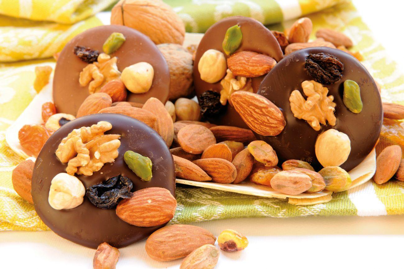 Cialdine di Cioccolato piccante alla frutta secca