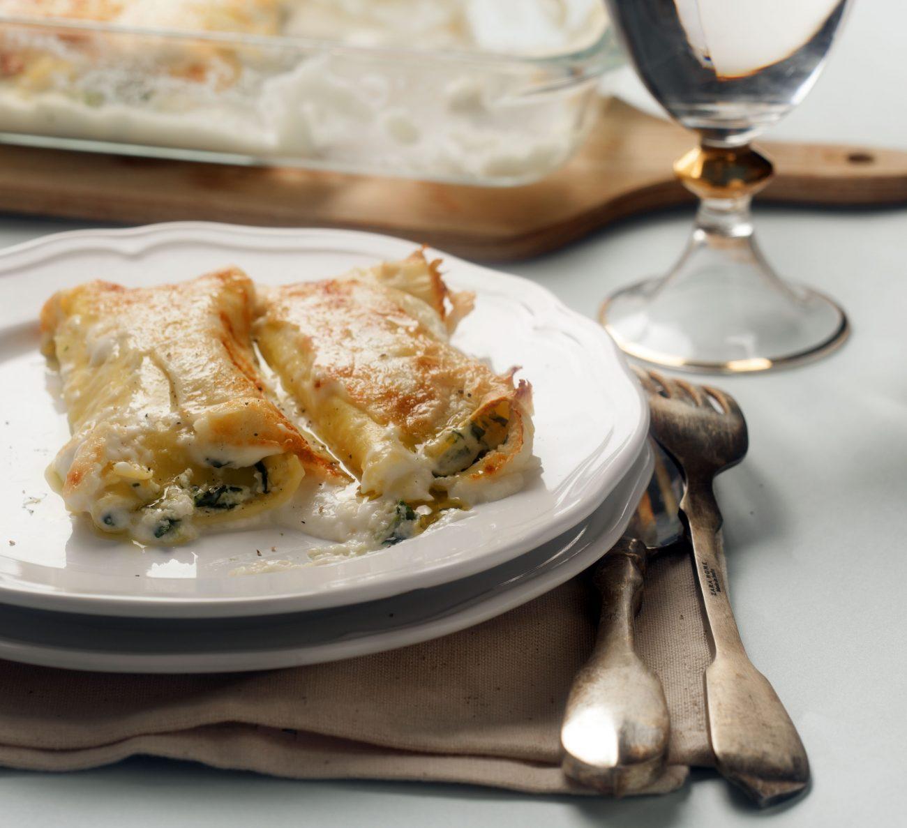 Cannelloni agli Spinaci e Tofu