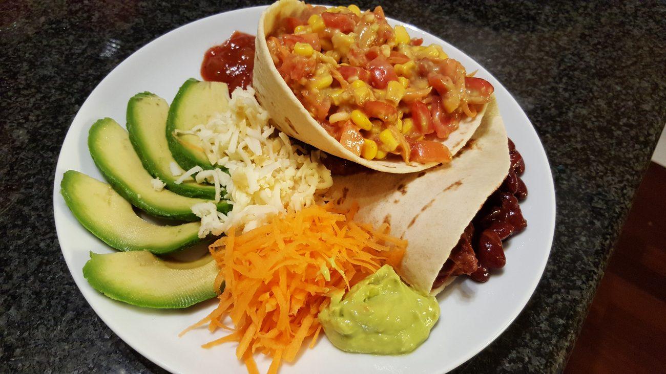 Pita Mexicana vegetariana