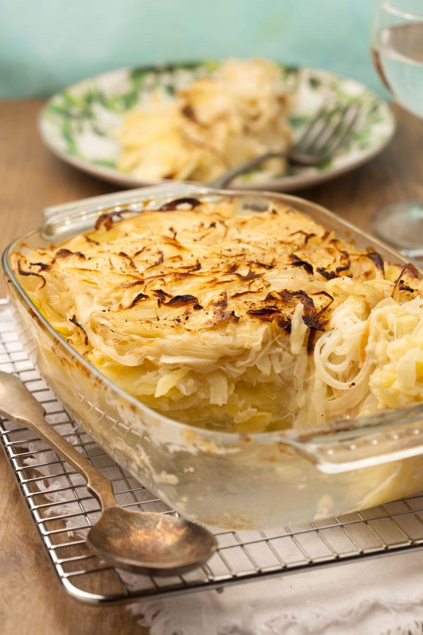 Gratin di cipolle e patate
