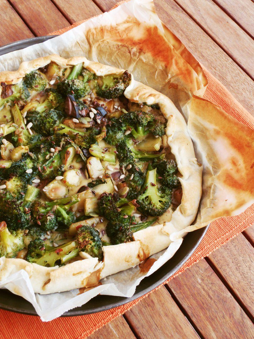 Torta Salata Broccoli e Porcini
