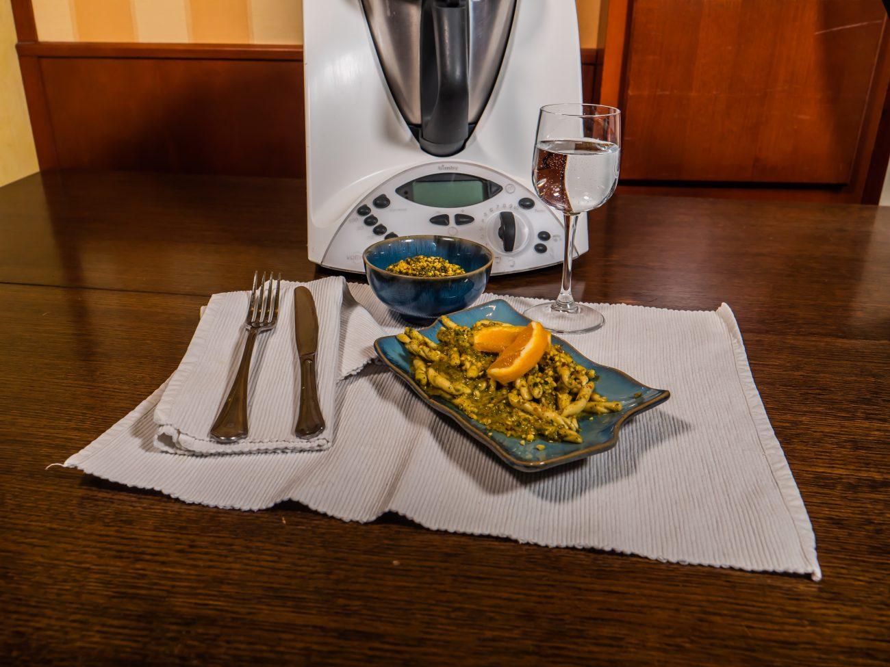 Pesto di Pistacchi all'Arancia con il Bimby