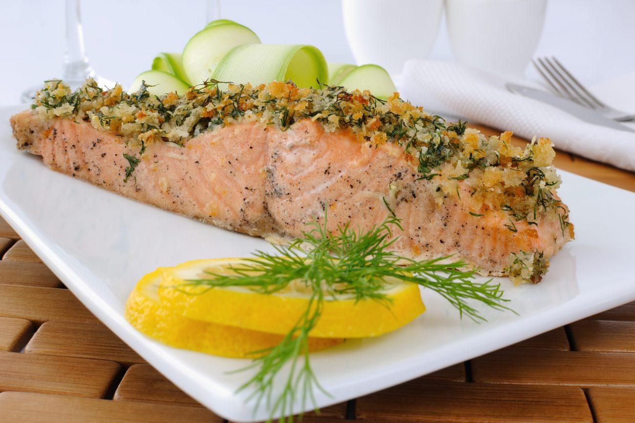 Salmone in crosta senza glutine