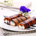 Crêpes dolci di castagne con ricotta