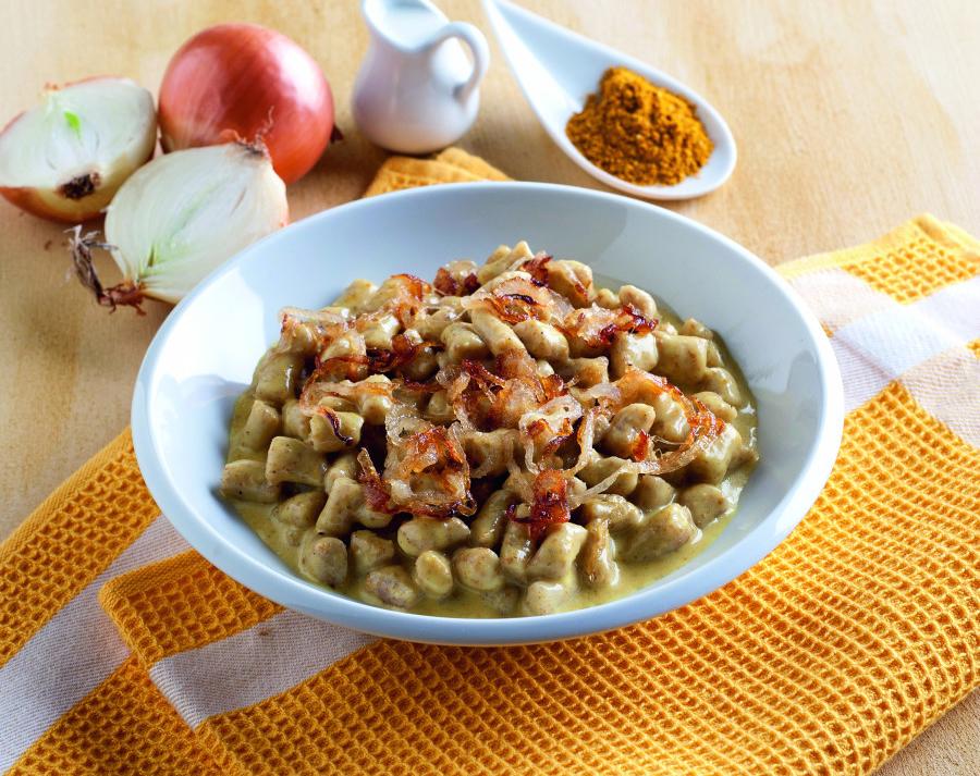 Gnocchi di Patate con Cipolle e Curry