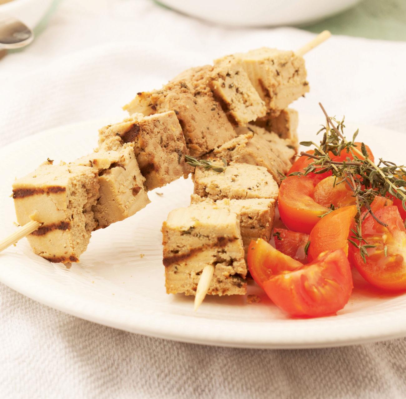 Spiedini di Tofu all'olio aromatico