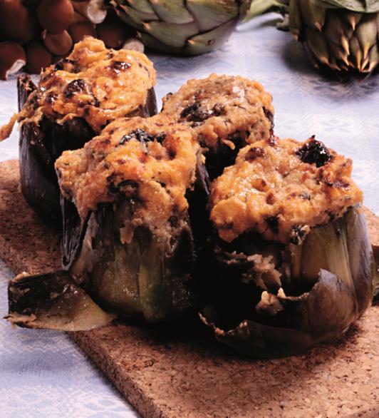 Carciofi ripieni con chiodini e olive