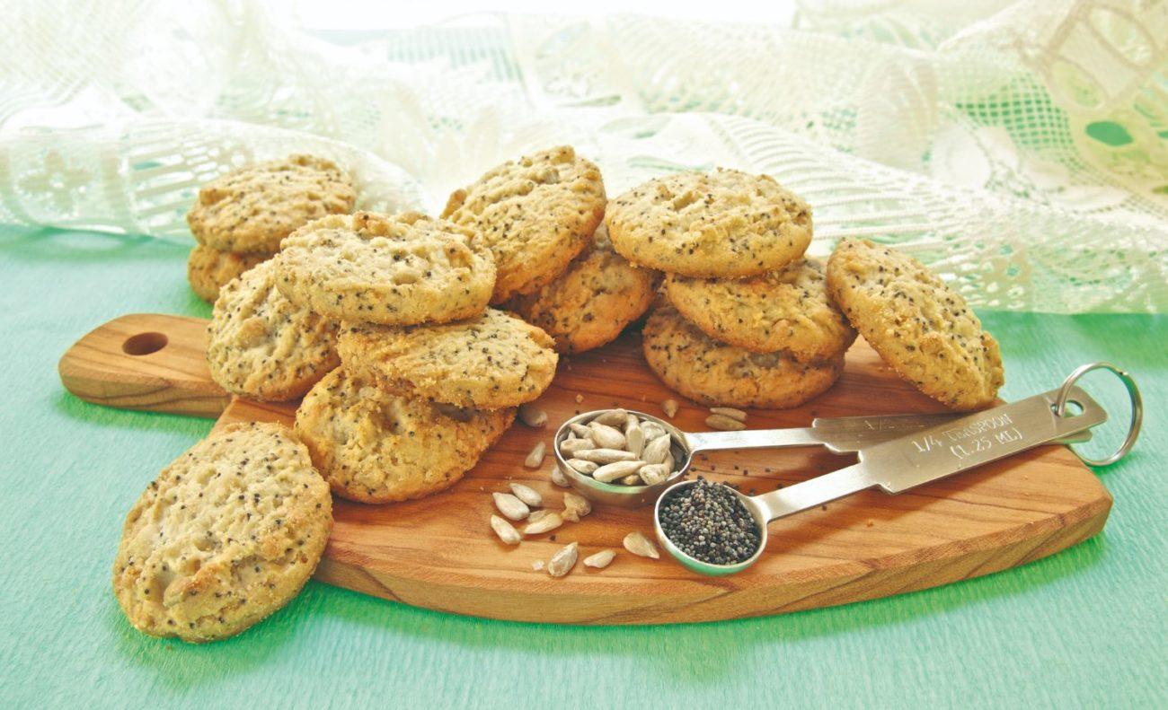 Biscotti ai semi di papavero e girasole