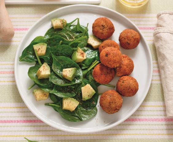 Falafel con insalata di avocado