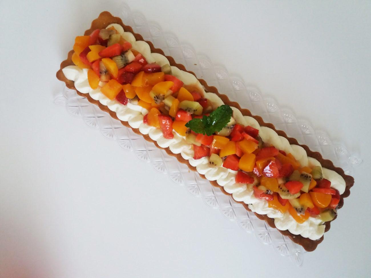 Crostata al mascarpone e salsa al kiwi