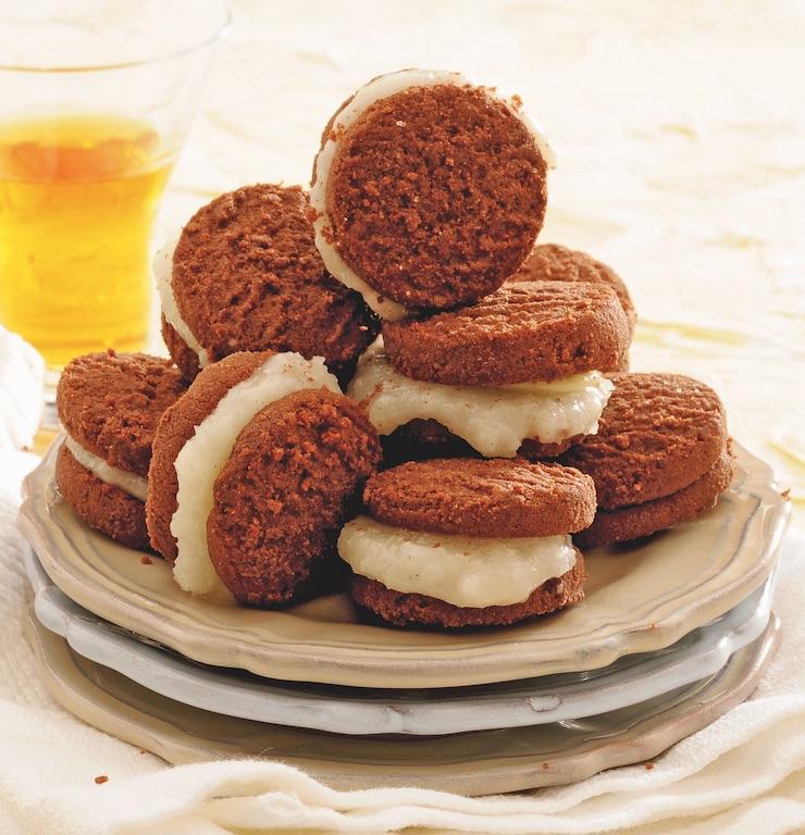 Biscotti al cioccolato e crema