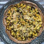 Crostata di farro, topinambur e patate