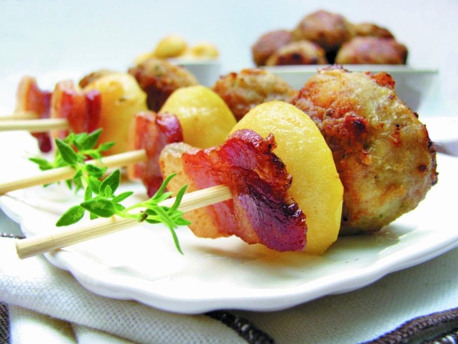 Polpette di manzo con bacon croccante