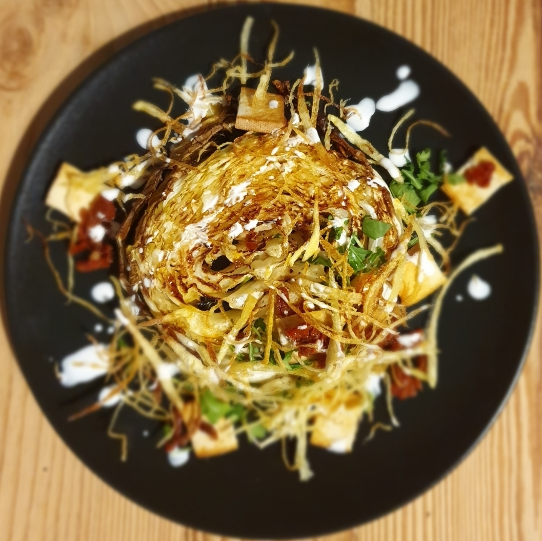 Verza, patate e tofu affumicato