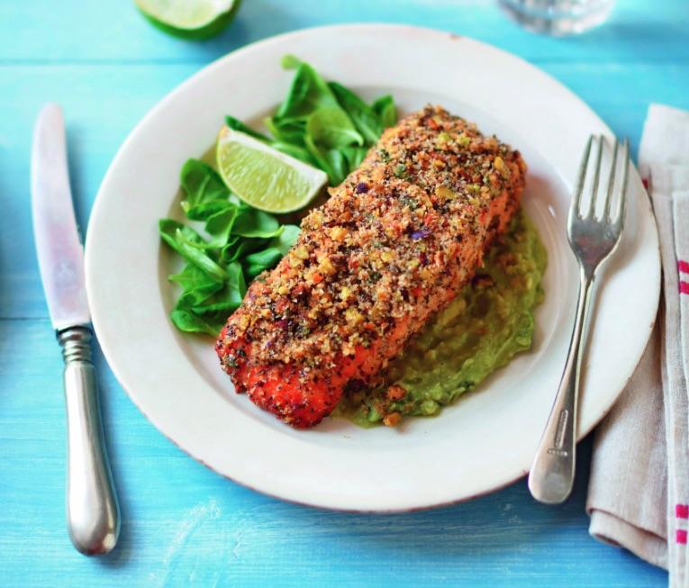 Salmone marinato gratinato