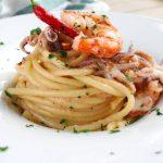 Spaghetti ciuffetti e gamberoni