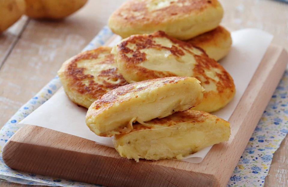 Cotolette di patate con mozzarella