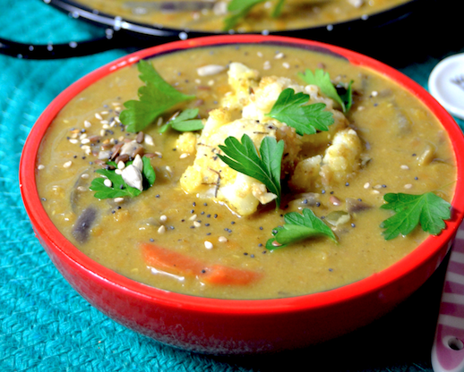 Curry di Lenticchie e Cavolfiore