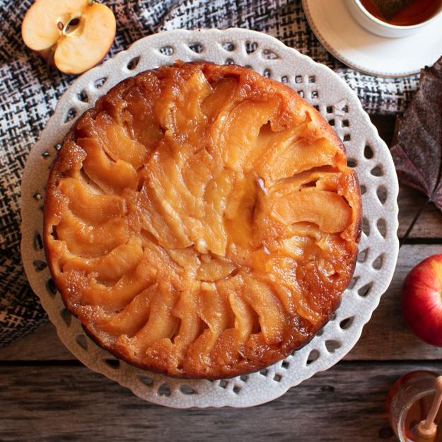 Torta rovesciata mele e miele