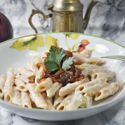 Pasta Gorgonzola e Cipolle Caramellate