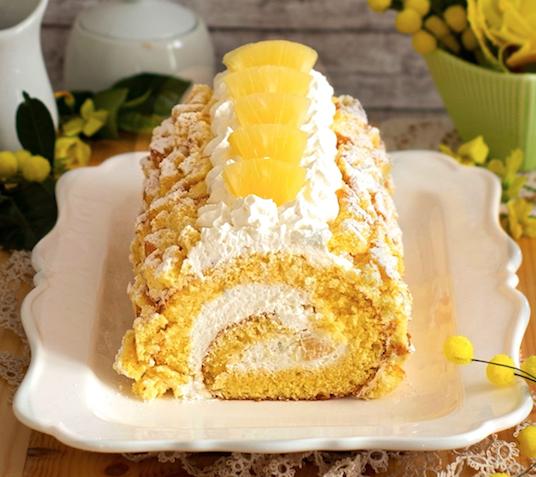 Rotolo torta Mimosa