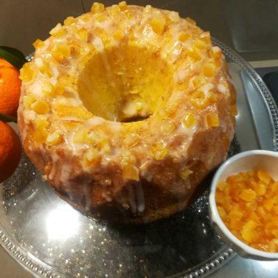 ciambellone glassato al mandarino