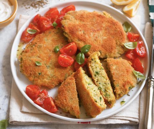 Cotolette Vegane di Miglio con Zucchine e Zafferano