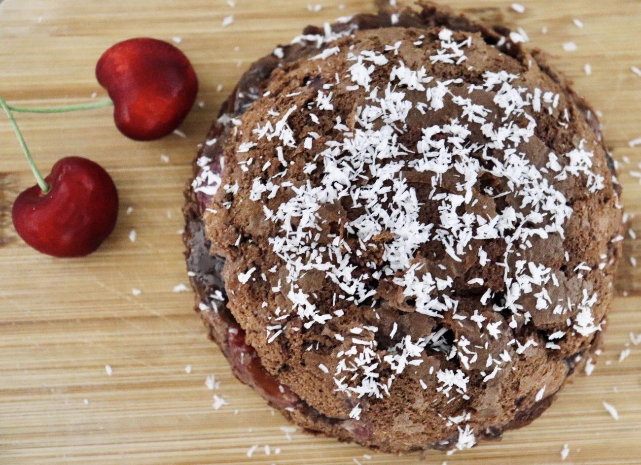 Tortino Cacao, Cocco e Ciliegie Al Vapore