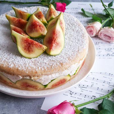 torta di ricotta e fichi