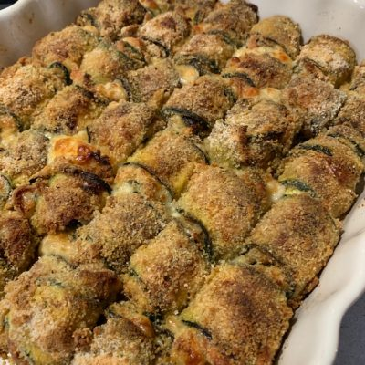 Zucchine con scamorza affumicata