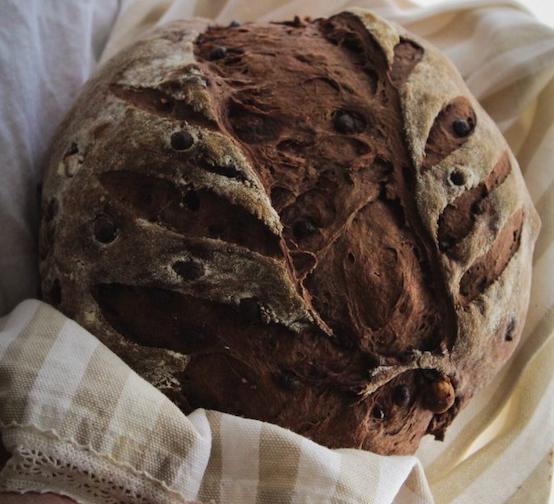 Pane al Cacao e Gocce di Cioccolato