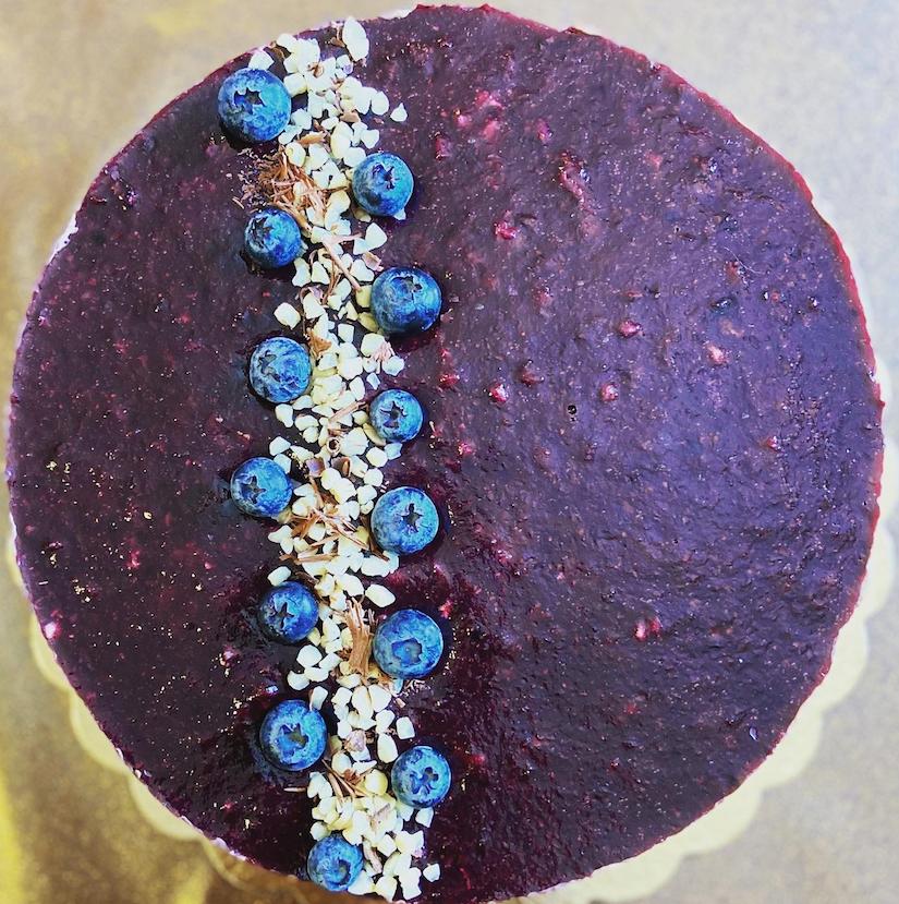 Torta Light al Cioccolato e Mirtilli