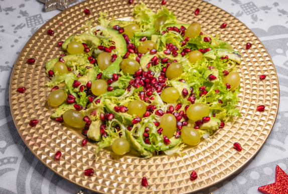 Insalata di Avocado, Uva e Melagrana