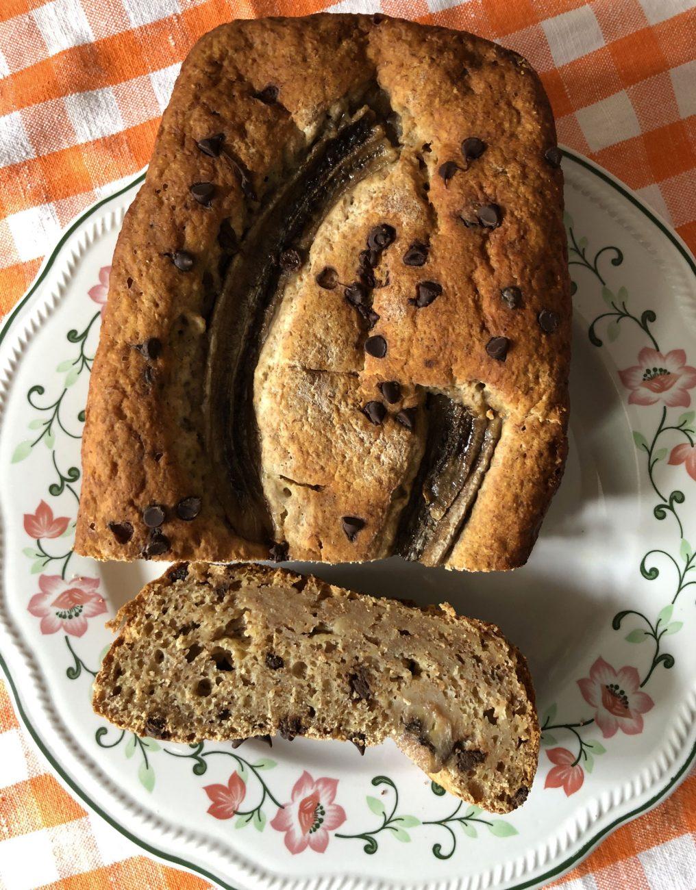 Banana Bread Integrale con Cioccolato
