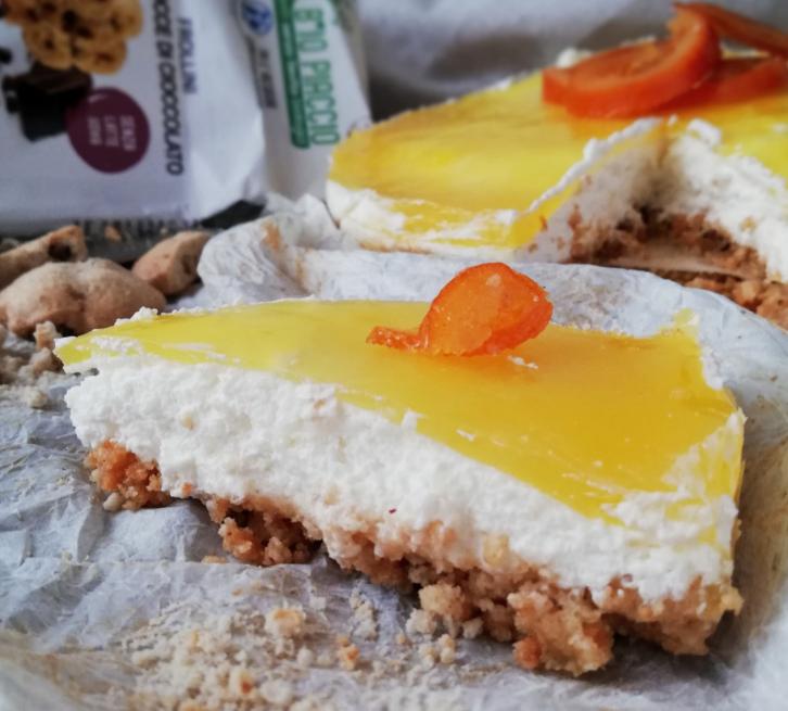 Cheesecake all'Arancia senza Lattosio