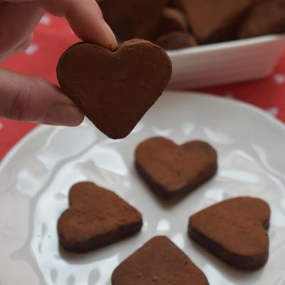Biscotti al Cioccolato a forma di Cuore