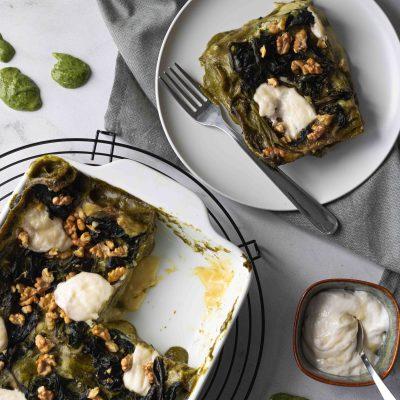Fetta di Lasagne Verdi agli Spinaci