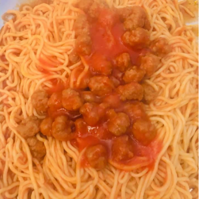 Spaghetti con Pallottine alla Teramana