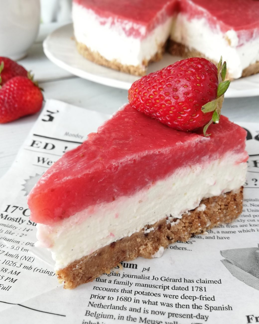 Cheesecake alle Fragole Senza Lattosio