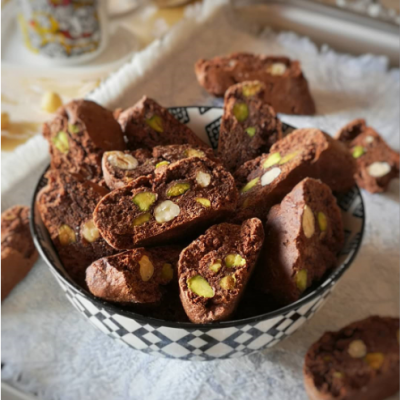 Cantucci al Cacao Nocciole e Pistacchi