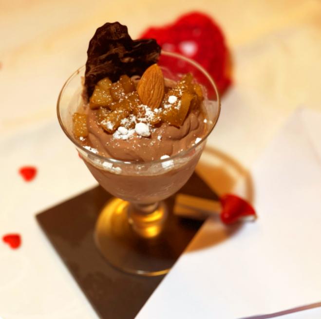 Coppa di Pere e Cioccolato Vegana