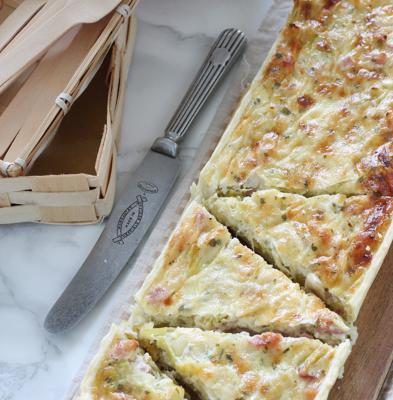 Torta Salata Stracchino e Pancetta