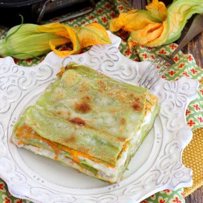 Lasagne ai fiori di zucca con prosciutto e burrata1