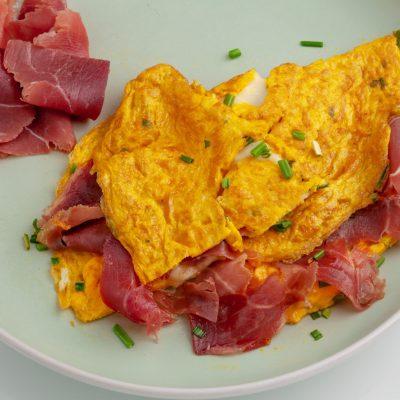 Omelette Morbida al Prosciutto