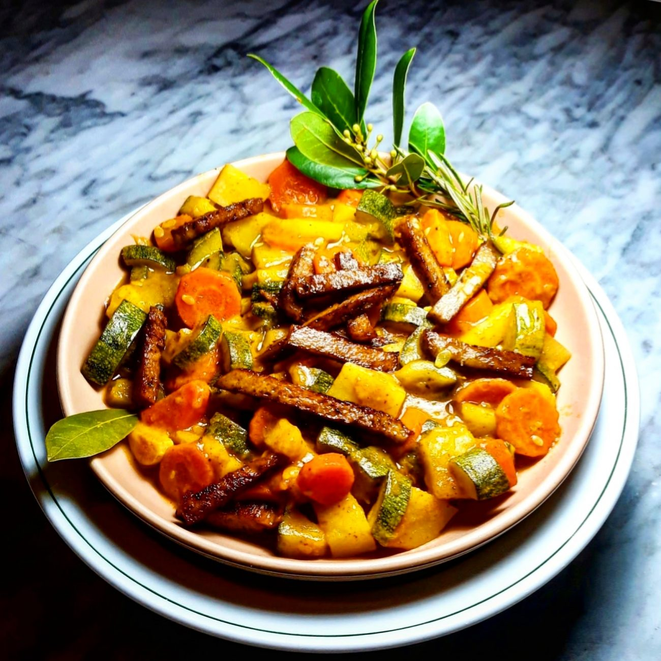Curry Di Verdure Con Seitan Affumicato