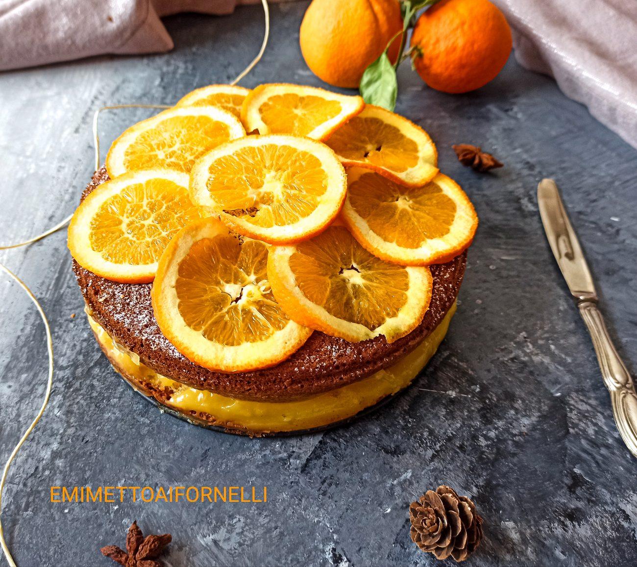 Torta All'Arancia Con Crema All'Acqua