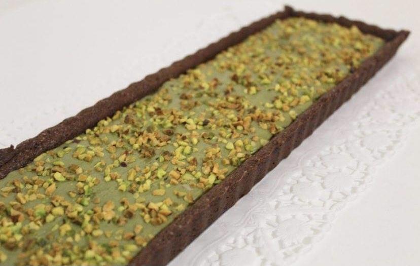 Tronchetto Cioccolato Fondente e Pistacchio